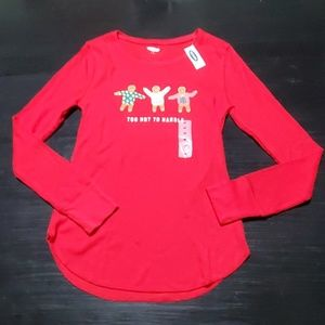 """Old Navy Red """"Too Hot to Handle"""" Thermal Top M"""